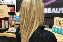 окрашивание волос блонд