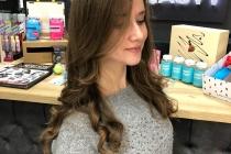 укладка волос локоны