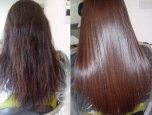 Фото до/после ботокса для волос